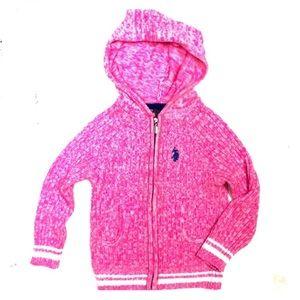 Hot Pink U.S. POLO Sweater/Zip Up Hoodie
